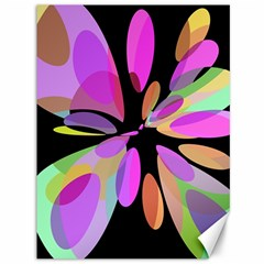 Pink abstract flower Canvas 36  x 48