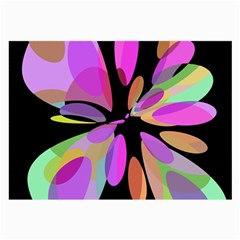 Pink abstract flower Large Glasses Cloth (2-Side)