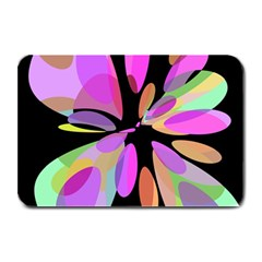 Pink abstract flower Plate Mats