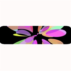 Pink abstract flower Large Bar Mats