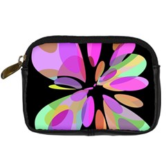 Pink abstract flower Digital Camera Cases