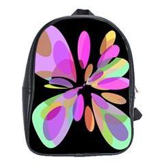 Pink abstract flower School Bags(Large)