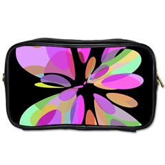 Pink abstract flower Toiletries Bags