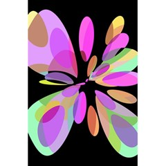 Pink abstract flower 5.5  x 8.5  Notebooks