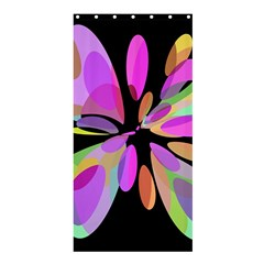 Pink abstract flower Shower Curtain 36  x 72  (Stall)