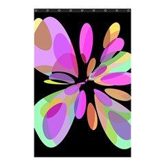 Pink abstract flower Shower Curtain 48  x 72  (Small)