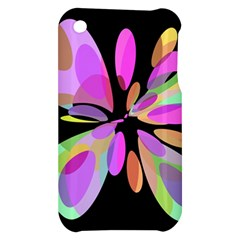Pink abstract flower Apple iPhone 3G/3GS Hardshell Case