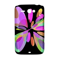 Pink abstract flower HTC ChaCha / HTC Status Hardshell Case