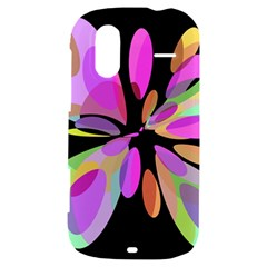 Pink abstract flower HTC Amaze 4G Hardshell Case