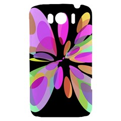 Pink abstract flower HTC Sensation XL Hardshell Case