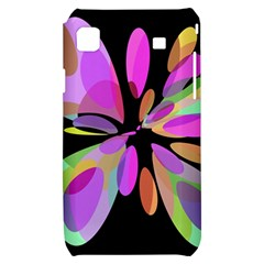 Pink abstract flower Samsung Galaxy S i9000 Hardshell Case