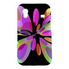 Pink abstract flower Samsung Galaxy Ace S5830 Hardshell Case