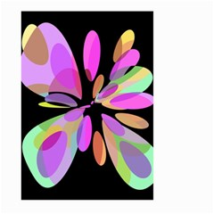 Pink abstract flower Large Garden Flag (Two Sides)