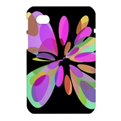 Pink abstract flower Samsung Galaxy Tab 7  P1000 Hardshell Case