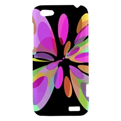 Pink abstract flower HTC One V Hardshell Case