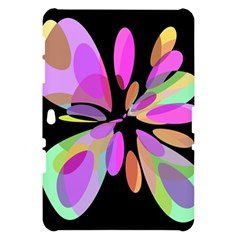 Pink abstract flower Samsung Galaxy Tab 10.1  P7500 Hardshell Case