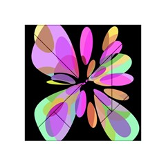 Pink abstract flower Acrylic Tangram Puzzle (4  x 4 )