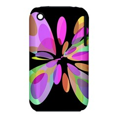 Pink abstract flower Apple iPhone 3G/3GS Hardshell Case (PC+Silicone)
