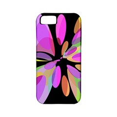 Pink abstract flower Apple iPhone 5 Classic Hardshell Case (PC+Silicone)