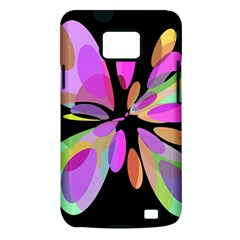 Pink abstract flower Samsung Galaxy S II i9100 Hardshell Case (PC+Silicone)