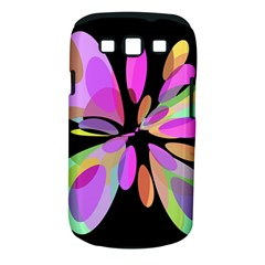 Pink abstract flower Samsung Galaxy S III Classic Hardshell Case (PC+Silicone)