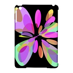 Pink abstract flower Apple iPad Mini Hardshell Case (Compatible with Smart Cover)