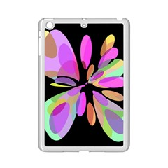 Pink abstract flower iPad Mini 2 Enamel Coated Cases