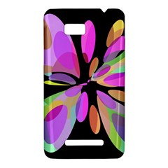 Pink abstract flower HTC One SU T528W Hardshell Case