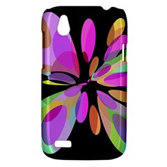 Pink abstract flower HTC Desire V (T328W) Hardshell Case