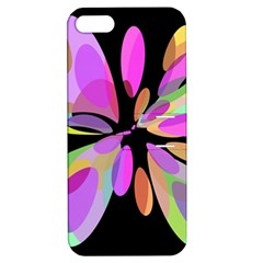 Pink abstract flower Apple iPhone 5 Hardshell Case with Stand
