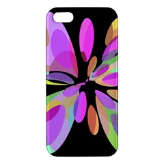 Pink abstract flower Apple iPhone 5 Premium Hardshell Case