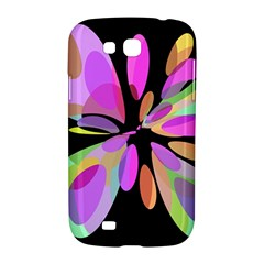 Pink abstract flower Samsung Galaxy Grand GT-I9128 Hardshell Case