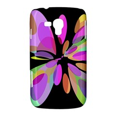 Pink abstract flower Samsung Galaxy Duos I8262 Hardshell Case