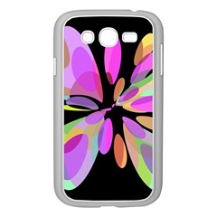 Pink abstract flower Samsung Galaxy Grand DUOS I9082 Case (White)