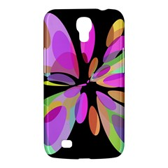Pink abstract flower Samsung Galaxy Mega 6.3  I9200 Hardshell Case