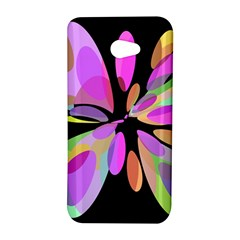 Pink abstract flower HTC Butterfly S/HTC 9060 Hardshell Case