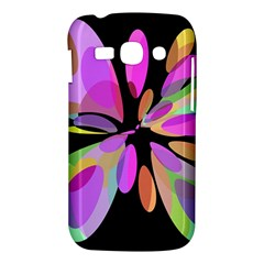 Pink abstract flower Samsung Galaxy Ace 3 S7272 Hardshell Case