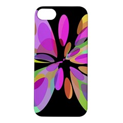 Pink abstract flower Apple iPhone 5S/ SE Hardshell Case