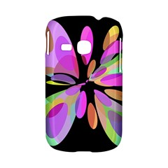 Pink abstract flower Samsung Galaxy S6310 Hardshell Case