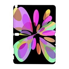 Pink abstract flower Samsung Galaxy Note 10.1 (P600) Hardshell Case
