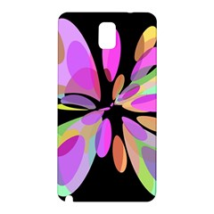 Pink abstract flower Samsung Galaxy Note 3 N9005 Hardshell Back Case