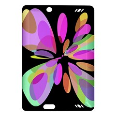 Pink abstract flower Amazon Kindle Fire HD (2013) Hardshell Case