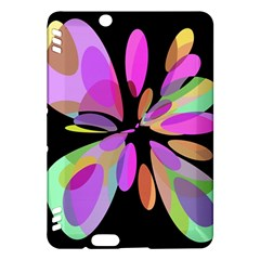 Pink abstract flower Kindle Fire HDX Hardshell Case