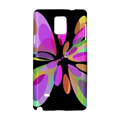 Pink abstract flower Samsung Galaxy Note 4 Hardshell Case