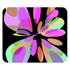 Pink abstract flower Double Sided Flano Blanket (Small)