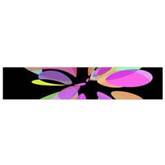 Pink abstract flower Flano Scarf (Small)