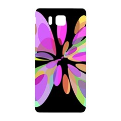 Pink abstract flower Samsung Galaxy Alpha Hardshell Back Case