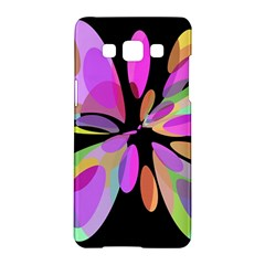 Pink abstract flower Samsung Galaxy A5 Hardshell Case