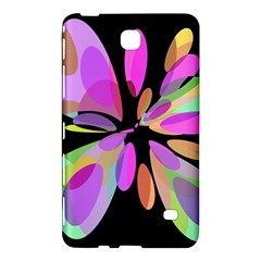 Pink abstract flower Samsung Galaxy Tab 4 (7 ) Hardshell Case