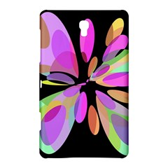 Pink abstract flower Samsung Galaxy Tab S (8.4 ) Hardshell Case